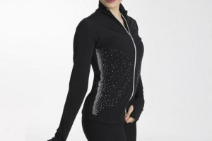 intermezzo 6539 trainingsjack emit strass schwarz